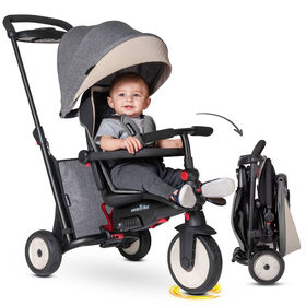 smarTrike STR5 - 7 Stage Folding Stroller Certified Baby Trike - Grey