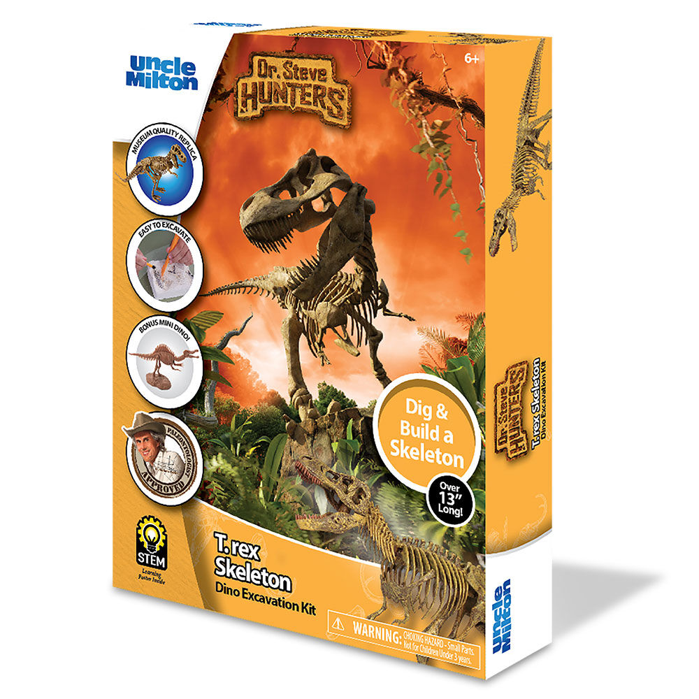 Geoworld DR Steve Hunters Velociraptor Skeleton DINO EXCAVATION KIT