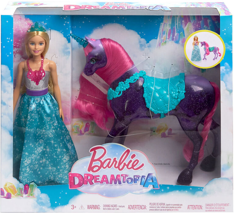 Barbie Dreamtopia Princess Doll and Unicorn - R Exclusive