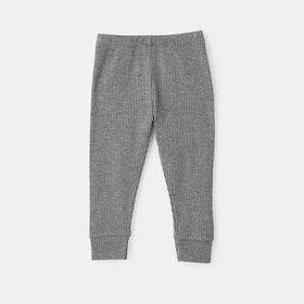 ribbed hacci legging , size 4-5y - Grey