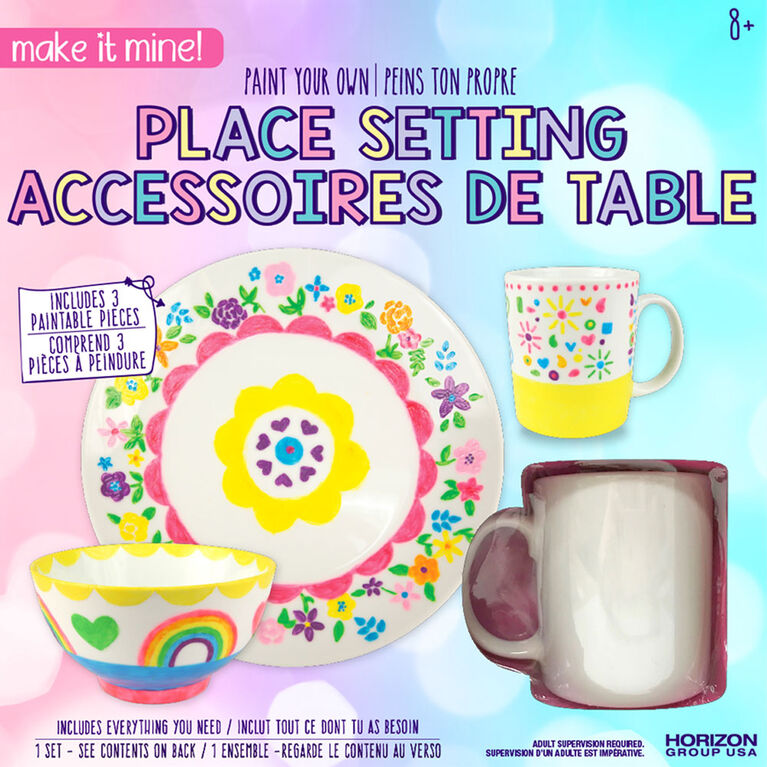 Make It Mine Paint Own Place Setting