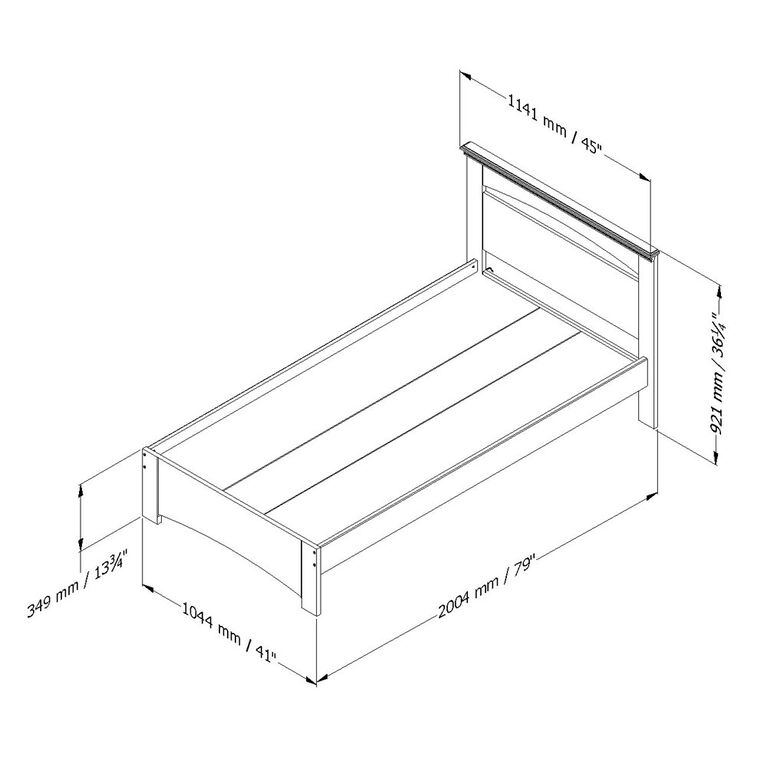 Libra Complete Bed with Headboard- Pure White