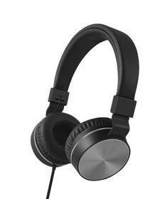 Polaroid Premium Wired Headphones, Grey Metal