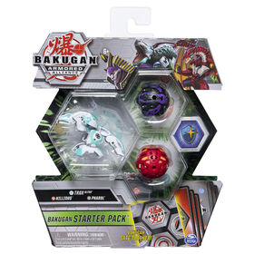 Bakugan, Starter Pack 3 personnages, Trox Ultra, Figurines Armored Alliance articulées à collectionner