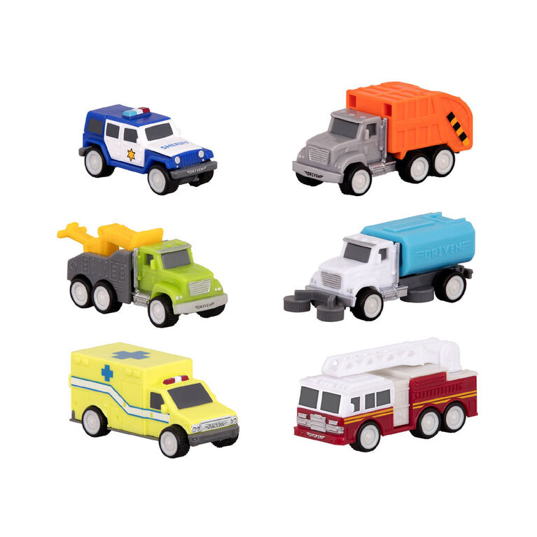 Driven, Safe & Clean City Crew, City Set with Miniature Vehicles