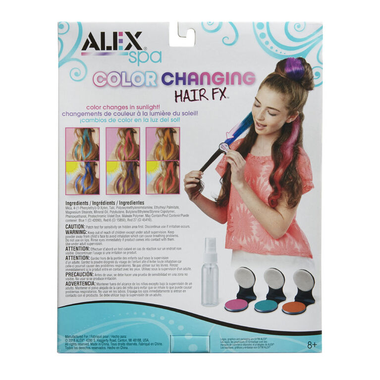 Alex Spa Color Changing Hair FX - English Edition