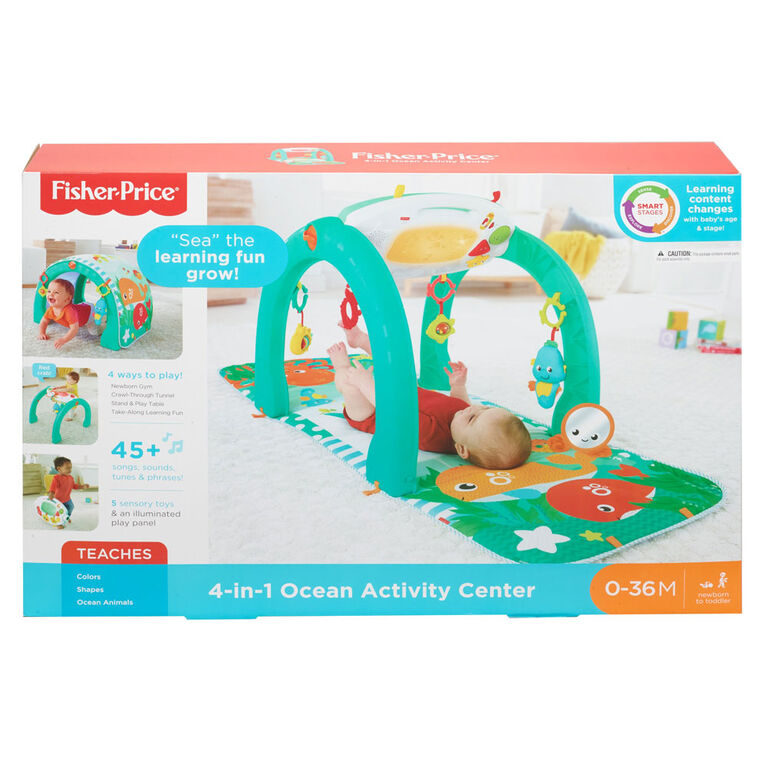 Fisher-Price 4-in-1 Ocean Activity Center - English Editon