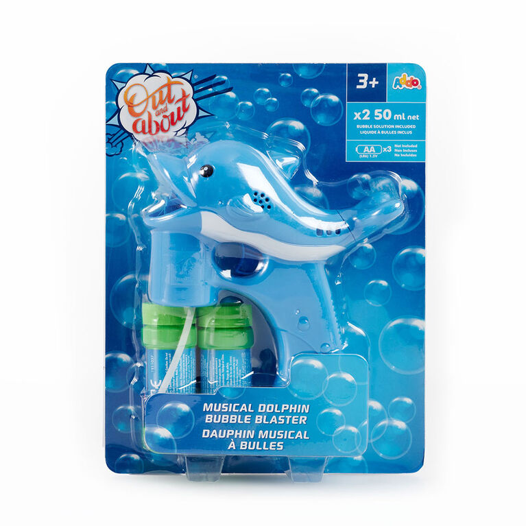 Out and About Musical Bubble Blaster Dolphin - R Exclusive