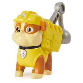 PAW Patrol, Action Pack Rubble Collectible Figure with Sounds and Phrases