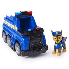 PAW Patrol Ultimate Rescue - Chase's Ultimate Rescue Police Cruiser with Lifting Seat and Fold-out Barricade
