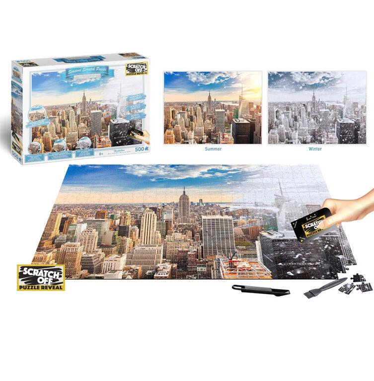 Scratch Off: Puzzles De La Série Été À Hiver - Manhattan (New York) - 500 P