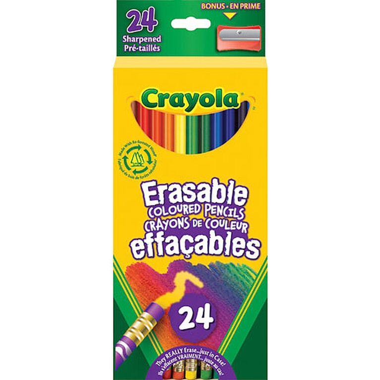 Crayola Erasable Coloured Pencils, 24 Ct