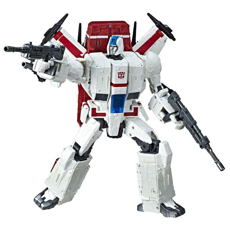 Transformers Generations War for Cybertron, figurine Jetfire WFC-S28 classe commandant.