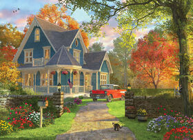 Eurographics Blue Country Home Oversize 300 Piece Puzzle