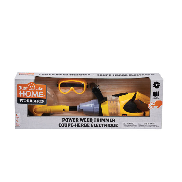 Just Like Home Workshop - Power Weed Trimmer with Goggles