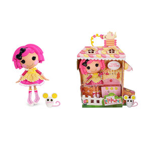 """Lalaloopsy Doll - Crumbs Sugar Cookie with Pet Mouse, 13"""" baker doll"""