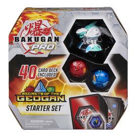Bakugan Pro, Secrets of the Geogan Starter Set with Sharktar Ultra, 2 Bakugan and 40 Collectible Trading Cards