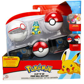 Clip 'N' Go Poké Ball Belt Set - 2 Inch Munchlax, Poké Ball, Premier Ball - English Edition