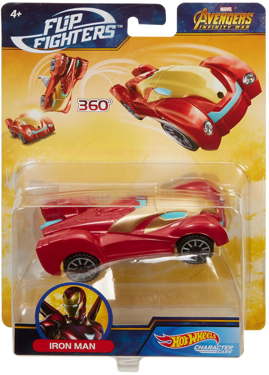 Hot Wheels Marvel Flip Fighters Vehicle - Iron Man - Styles May Vary