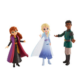 Disney Frozen Anna, Elsa, and Mattias Small Dolls 3-Pack