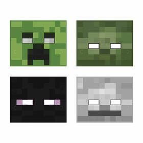 Minecraft Paper Masks, 8 pieces