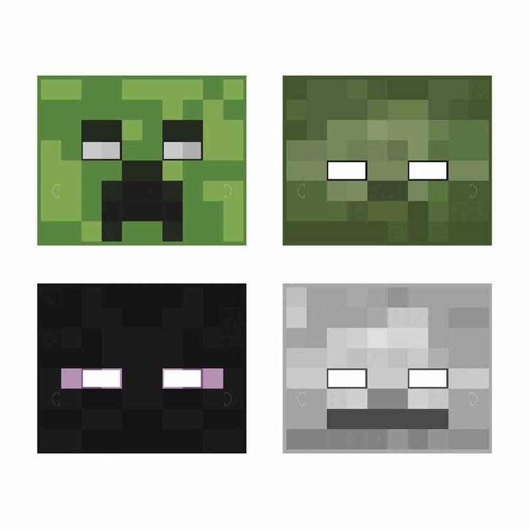 Minecraft Paper Masks, 8 pieces