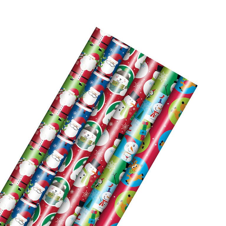 Rouleau de papier d'emballage pour les Fêtes – Enfant – Motif choisi au hasard – 1 rouleau par commande - Édition anglaise