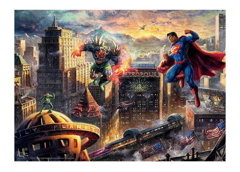 Ceaco Thomas Kinkade DC Comics Puzzle 1000 pièces Superman: l'homme d'acier