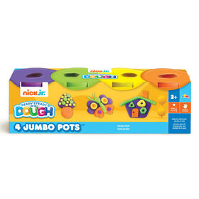 Nick Jr Ready Steady Dough 4 Jumbo Pots Hot Colours - R Exclusive
