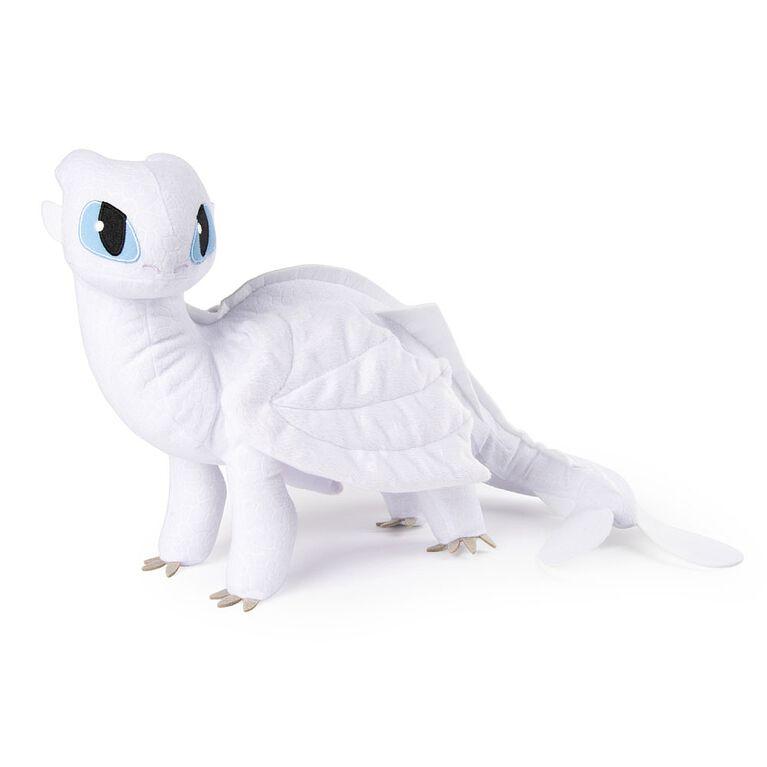 Comment entraîner son dragon, grande peluche Furie Nocturne blanche de 35,56 cm. - Notre Exclusivité