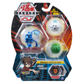Bakugan, Starter Pack 3 personnages, Aquos Goreene, Créatures transformables à collectionner