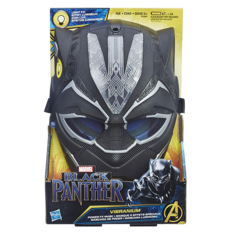 Marvel Black Panther - Masque à effets spéciaux vibranium.