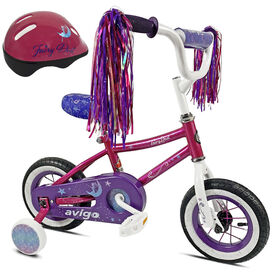 Avigo Fairy Dust with Helmet - 10 inch Bike