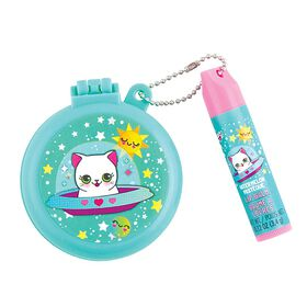 S. Lab Pop Up Brush with Lip Balm-Space Kitty