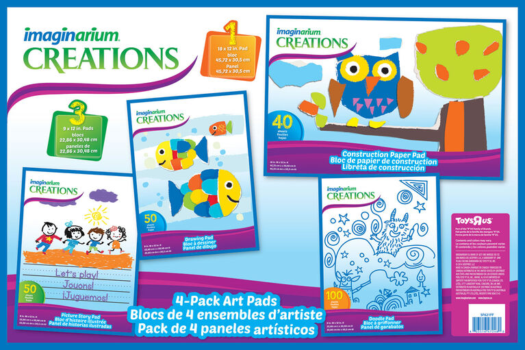 Imaginarium Combo Pad Pack-4 pads in 1 pack