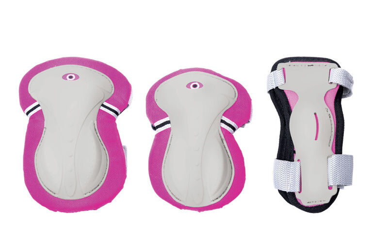 Globber Junior Set of 3 Protections - Pink XS