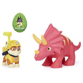 PAW Patrol, Coffret de figurines articulées Dino Rescue Ruben et dinosaure