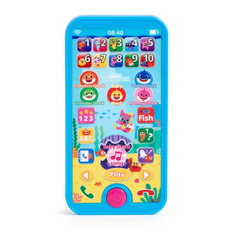 Pinkfong Baby Shark - Téléphone intelligent - Jouet préscolaire éducatif - par WowWee - Édition anglais