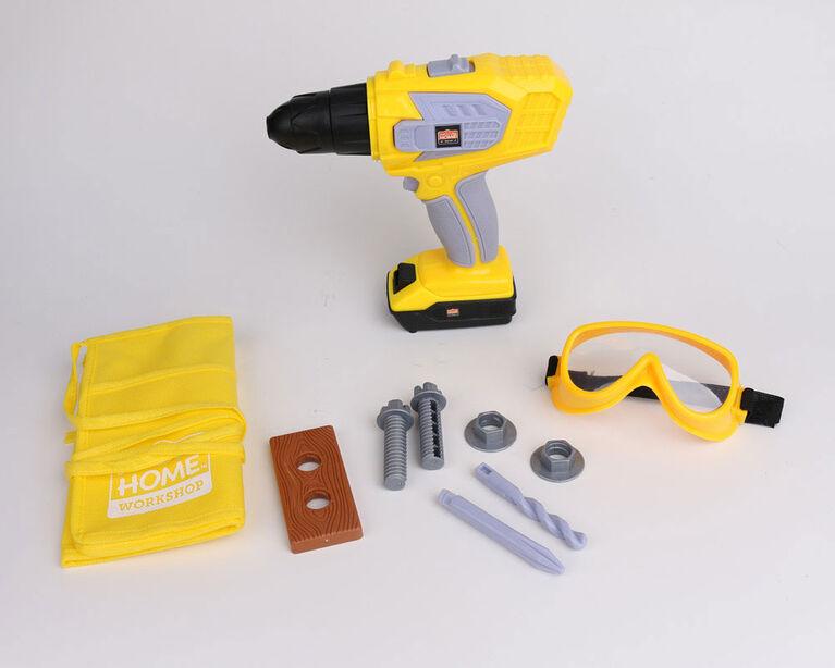 Just Like Home Workshop - Coffret de perceuse électrique de 10 pièces