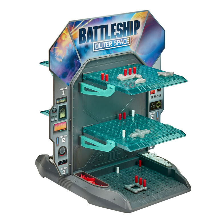 Battleship Outer Space 3D Board Game, 2-Player Strategy Game - English Edition - R Exclusive