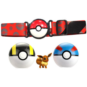 "Pokémon - Clip N Go Belt - 2"" Eevee #1, Pokeball Belt Set"