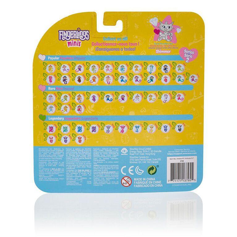 Mini Fingerlings - Collection 2-5 pièce sous plastique - 3 personnages plus un bracelet et breloque en prime.