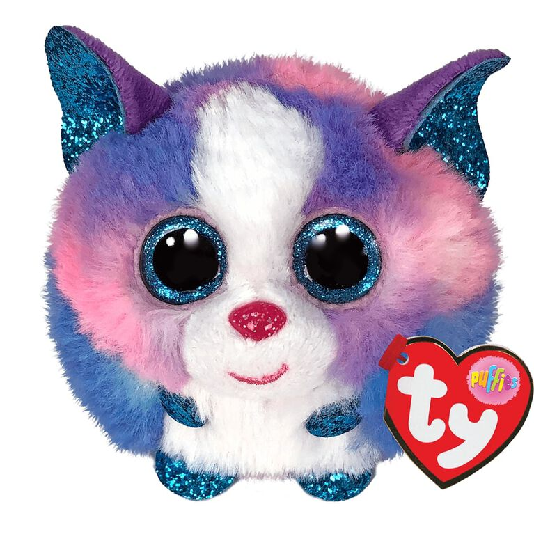 Ty Puffies Cleo Multicolor Husky