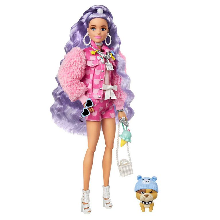 Barbie Extra Doll #6 in Teddy Bear Jacket and Shorts with Pet