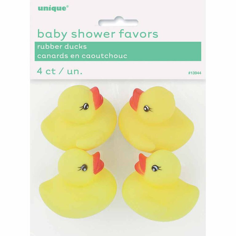 Baby Shower Rubber Duck Favors, 4 pieces