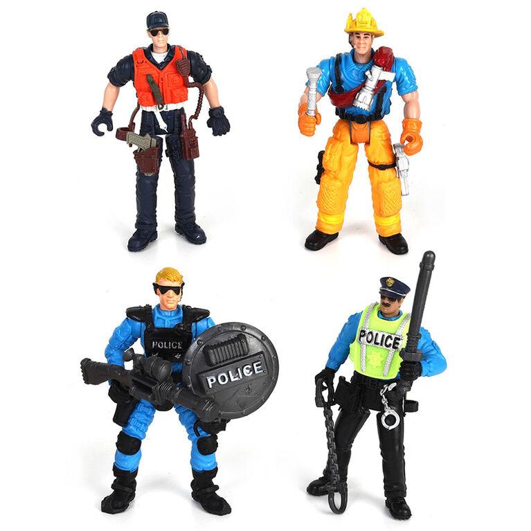 Force de Sauvetage Ensemble de Jeu Figurines d'Équipes. - Notre Exclusivité