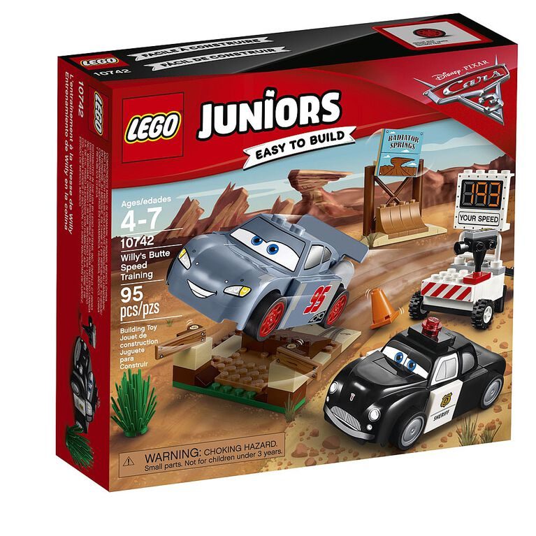 LEGO Juniors Cars Disney Pixar Willy's Butte Speed Training 10742