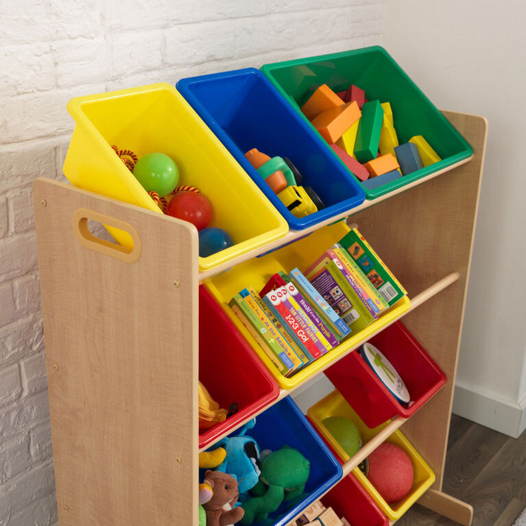 Sort It & Store It Bin Unit - Primary & Natural
