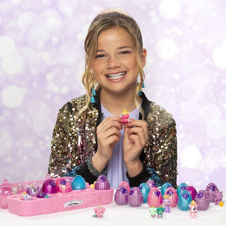 Hatchimals CollEGGtibles, Jewelry Box Royal Dozen 12-Pack Egg Carton with 2 Exclusive Hatchimals
