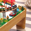 Ensemble chemin de fer et table Adventure Town avec EZ Kraft Assembly